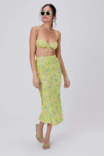 For Love & Lemons Dubois Midi Skirt in Freedom Floral