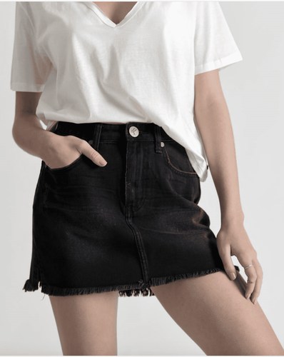 One Teaspoon Outlaws Mid Length Denim Shorts in Storm Boy