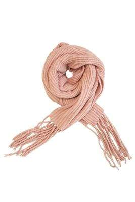 Plush O/S / Pink Soft Chunky Knit Scarf in Pink
