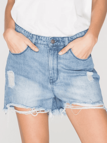 RES Denim String It Out Shorts in Twoway