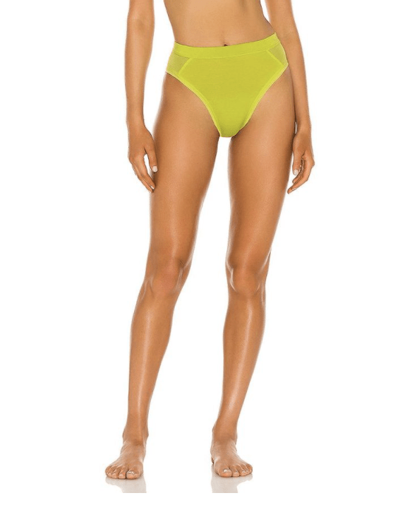 Richer Poorer High Cut Brief in Neon Lime