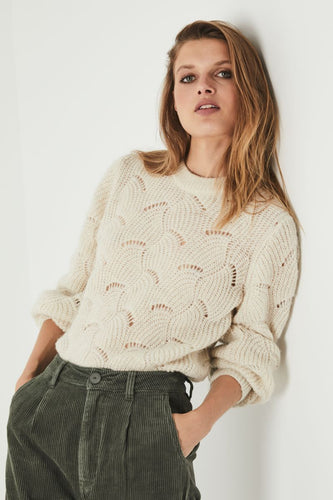 Rollas Laura Sweater in Vanilla