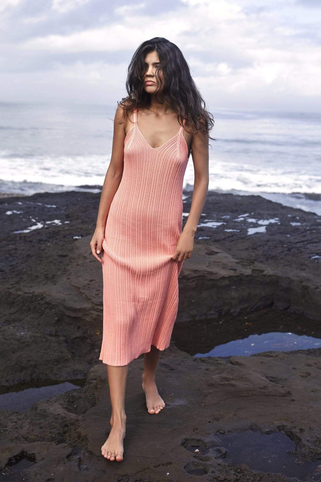 Rue Stiic Saige Maxi Dress in Peach