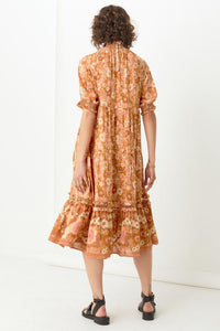 Spell & The Gypsy Collective Anne Midi Gown in Peach