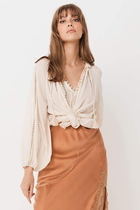 Spell & The Gypsy Collective Loves Me Not Blouse in Cream