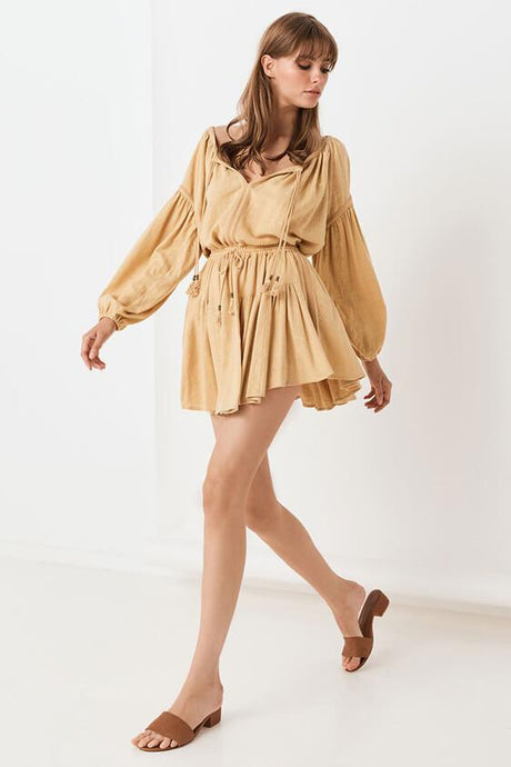 Spell & The Gypsy Collective M / Caramel Bella Mini Skirt in Caramel