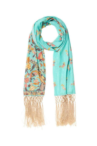Spell & The Gypsy Collective O/S / Sky Hendrix Tasseled Scarf in Sky