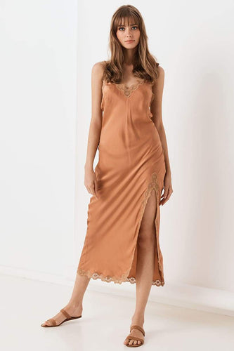 Spell & The Gypsy Collective Rizzo Silk Slip in Copper