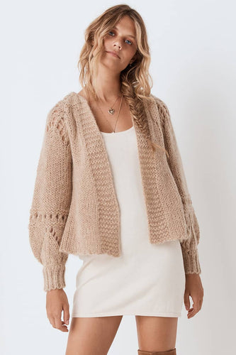 Spell & The Gypsy Collective Surf Shack Knit Cardigan in Taupe
