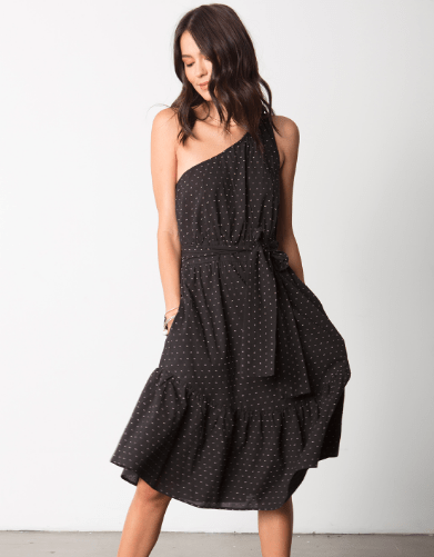 Stillwater Cheval D'Or Midi Dress in Black