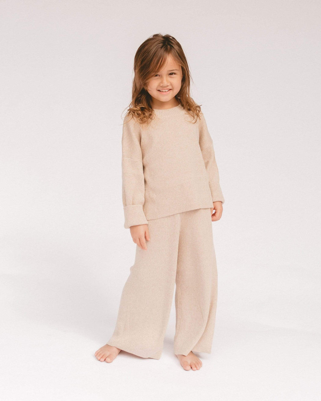 The Lullaby Club Alex Mini Knit Set in Sand