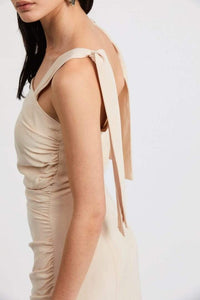 Third Form Le Mode Tie Shoulder Dress in Cream