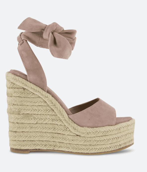 Tony Bianco Barca Wedge in Blush Suede