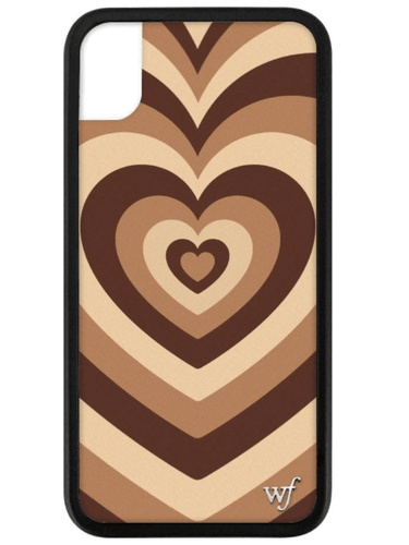 Wildflower Latte Love iPhone Case