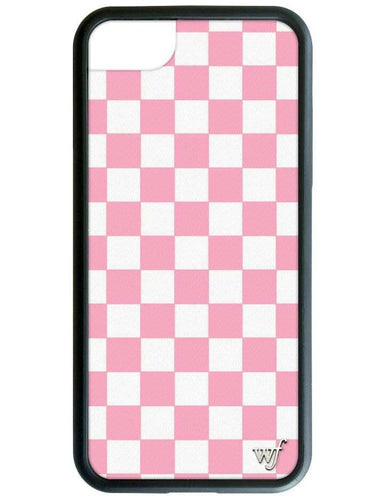 Wildflower Pink Checkers iPhone Case