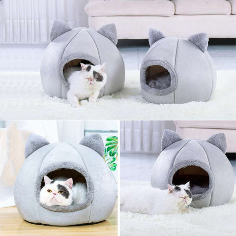 warm portable cat/dog tent house bed