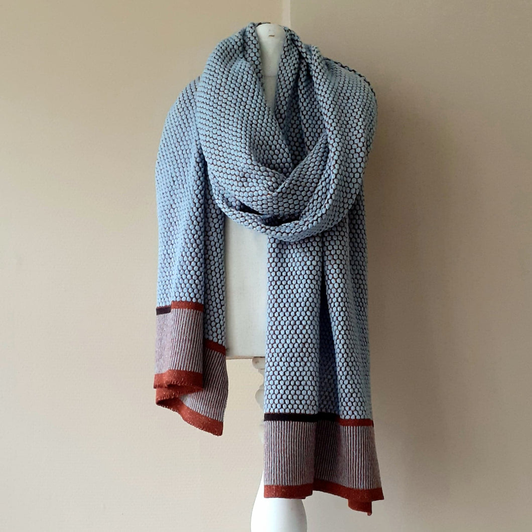 SCARF merino wool  LFG - ice blue