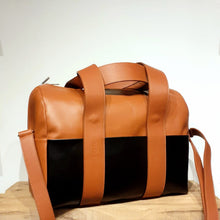 Load image into Gallery viewer, BOWLING BAG XL MD  - cognac & black