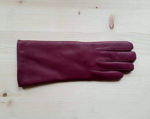 GLOVES R leather - plum
