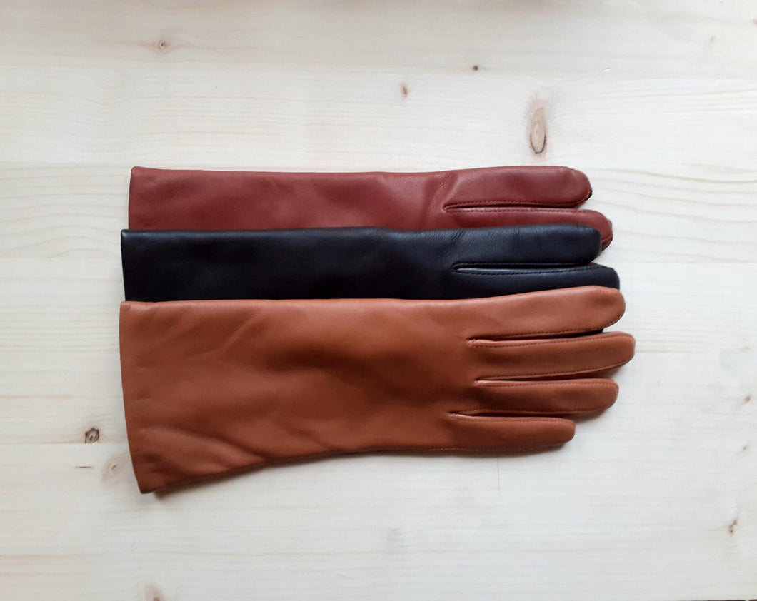 GLOVES leather - hazelnut
