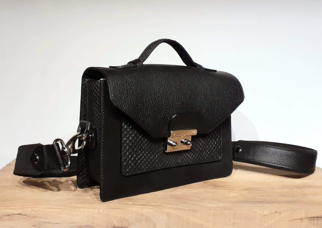 MINI BRIEFCASE PYTHON AC - black