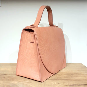 BRIEFCASE MINI MD  - snake dusty pink