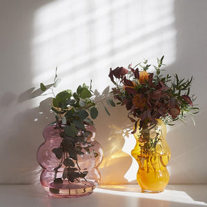 MUSE VASE M - FB - clear pink