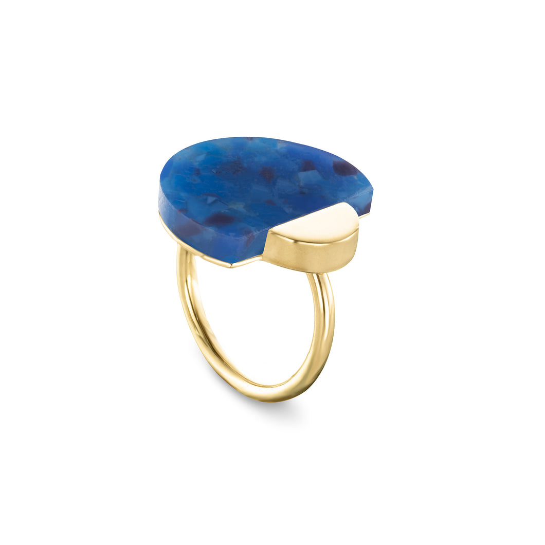 RING LH MBRACE - electric blue