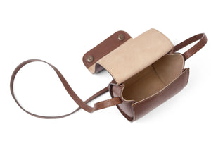 MINI SCALES BAG MD - light cognac