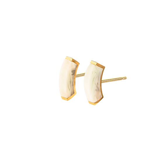 EARSTUDS LH FRAGMENT SMALL  – whitesque