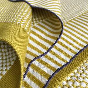 PLAID merino wool - yellow