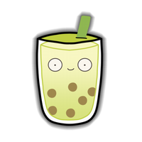 MilkTea - Green Tea Sticker