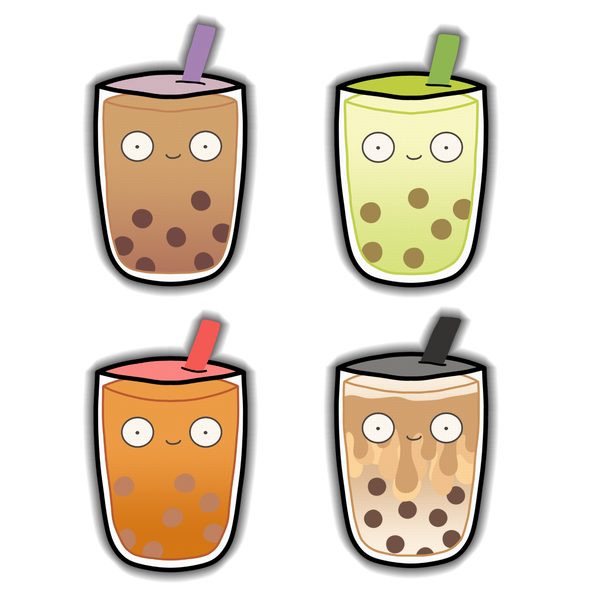 Milk Tea Sticker 4pk
