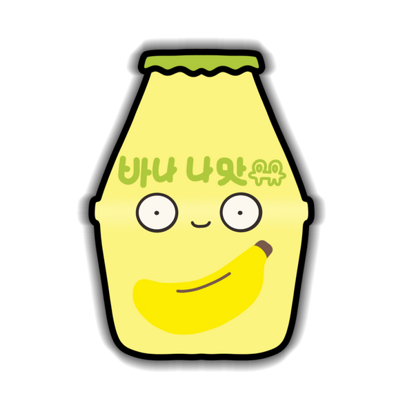 Korean Banana Milk Sticker