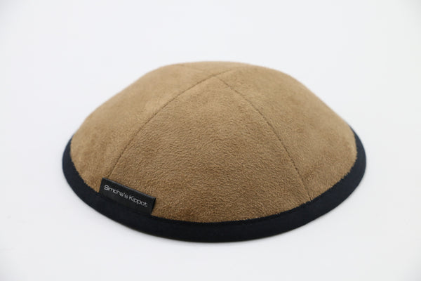 Double Face Burberry - Camel Color Eco  Suede Kippa