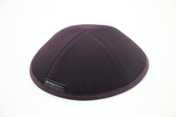 Double Face Burgundy Light Wool Kippa