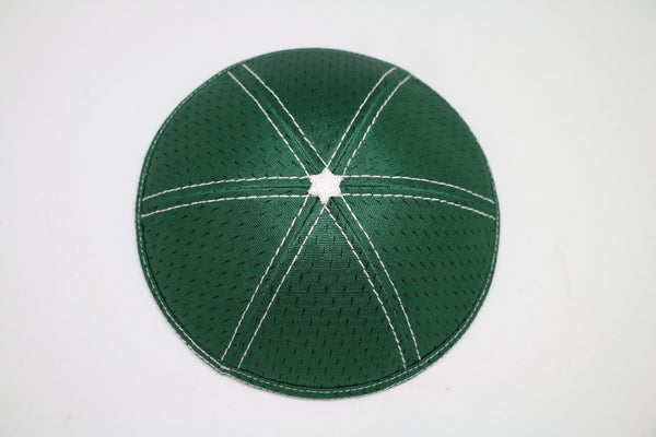 Green mash Star of David kippa