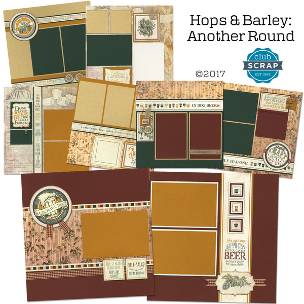 Hops & Barley - Another Round page kit