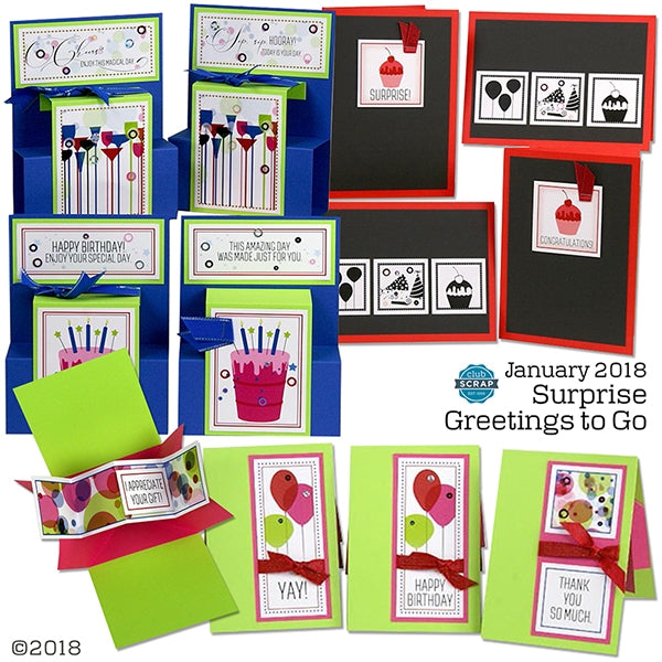 Surprise Greetings to Go Card Kit #clubscrap #cardmaking