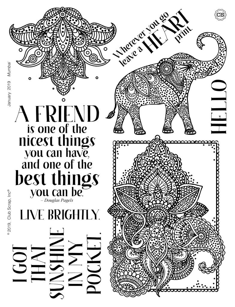 Mumbai Spoiler - Stamps by Club Scrap #clubscrap #stamping #rubberstamps