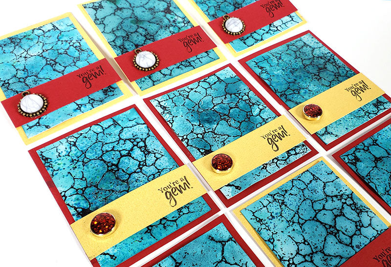 Turquoise ATCs - Swapping Artist Trading Cards