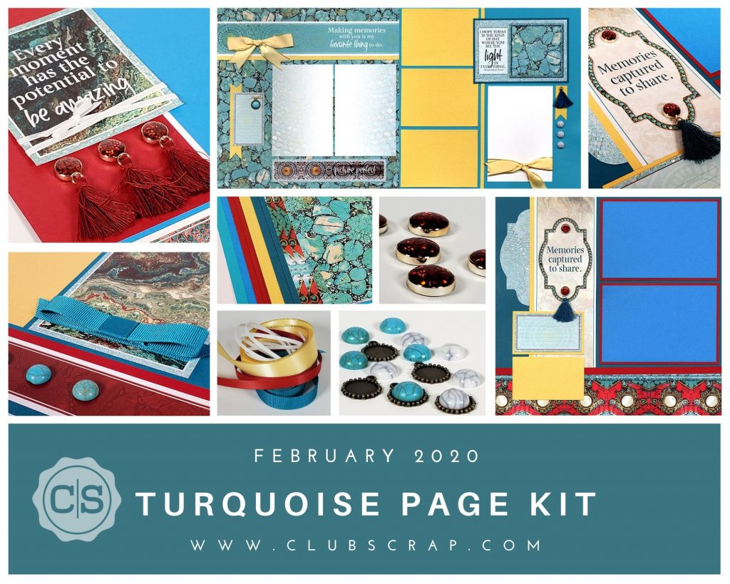 Turquoise Pages - Turquoise Page Kit by Club Scrap #clubscrap #pagekit #efficientscrapbooking #scrapbooking