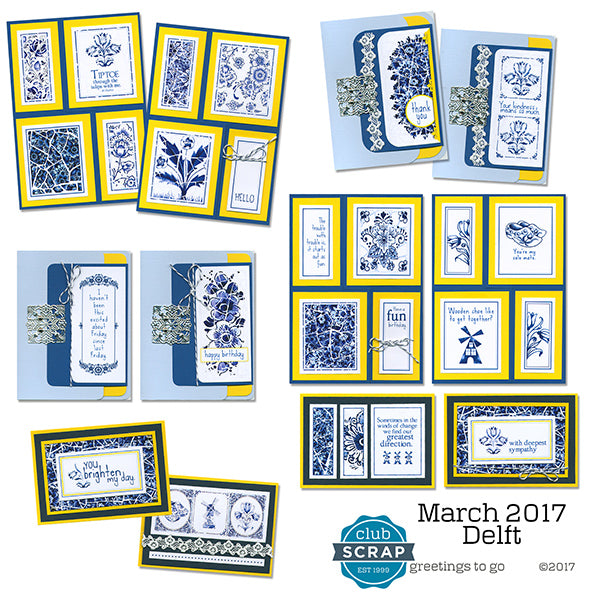 Delft Greetings to Go card kit