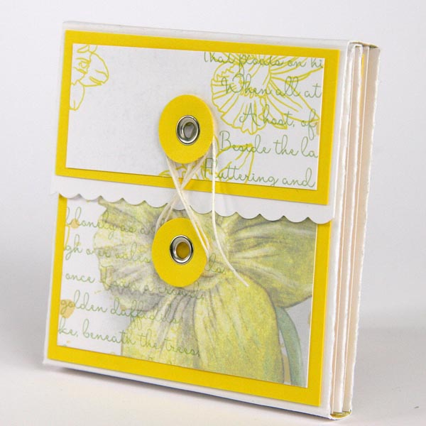 Mini Album Created With Club Scrap's Daffodils Collection