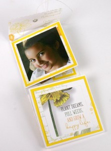 Matchbook Mini Album Created With Club Scrap's Daffodils Collection