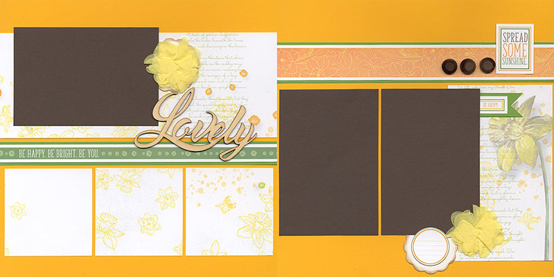 Daffodils Pages - a kit from Club Scrap #clubscrap #scrapbooking