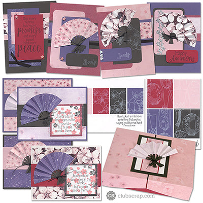 Cherry Blossoms Club Stamp card kit