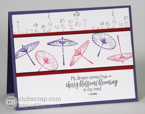 Club Scrap's Cherry Blossoms Card