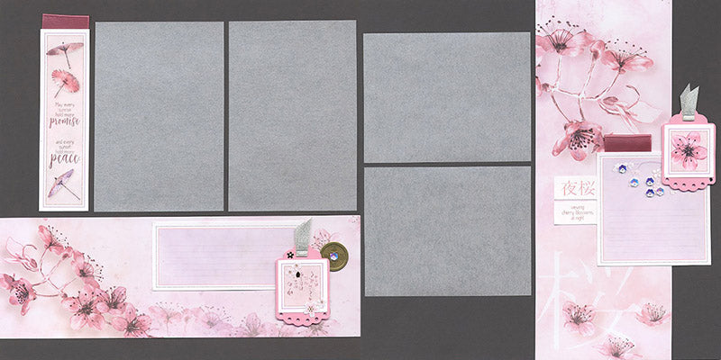 Club Scrap Cherry Blossoms Layout