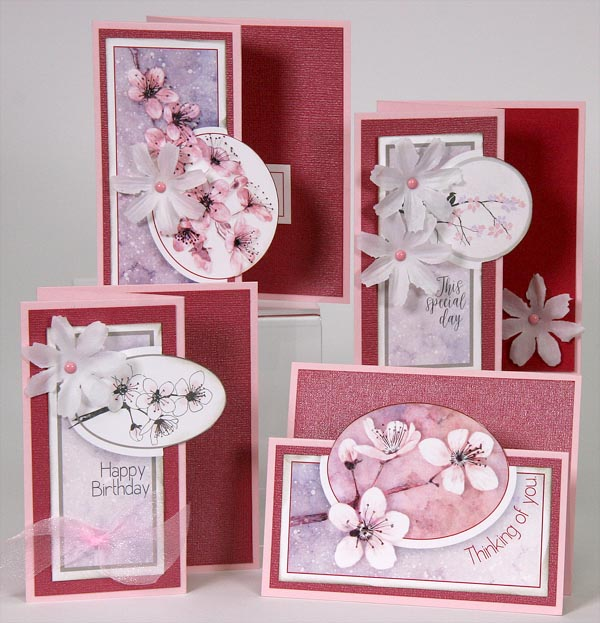 Club Scrap Cherry Blossom Greetings to Go
